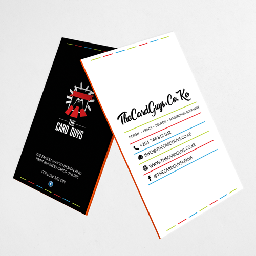 Print custom notebooks in nairobi kenya the card guys vertical business cards reheart Image collections