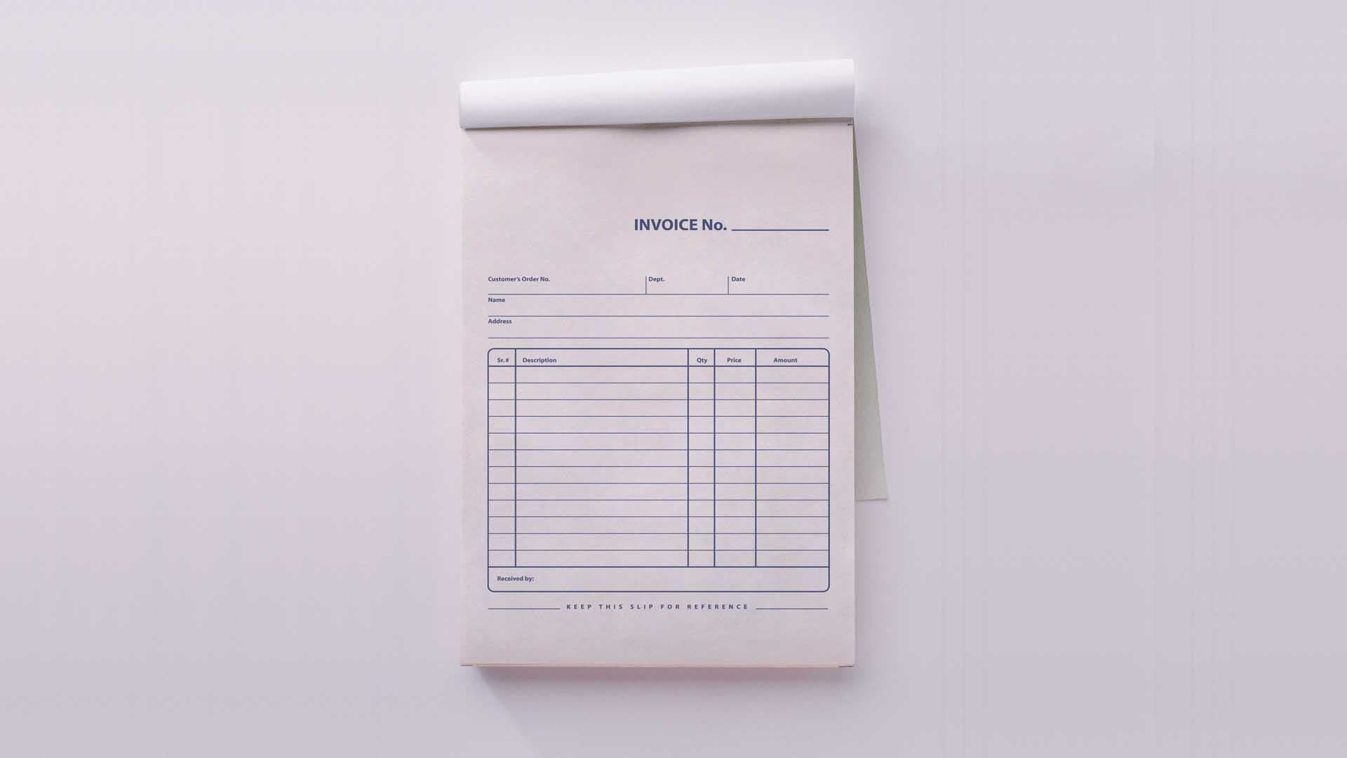 Invoice/Receipt Books